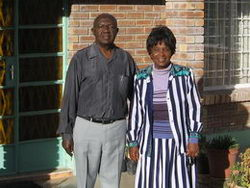 Proud adoptive Botswana couple