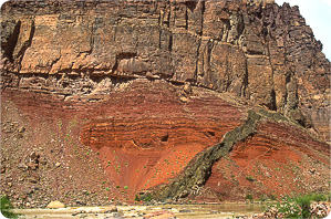 Unconformity and dyke
